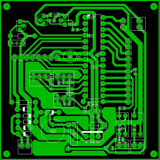 Плата микроконтроллера.