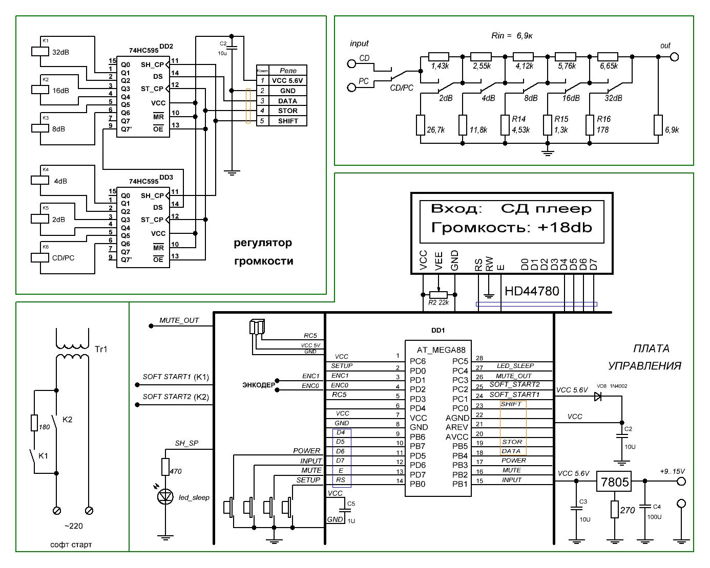 Стандартные схемы на реле